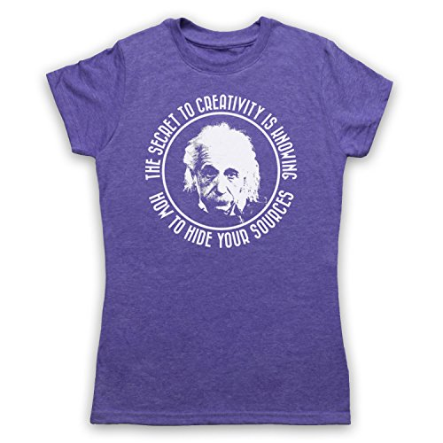 Albert Einstein Secret To Creativity Camiseta para Mujer Morado Clásico