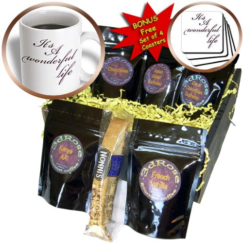 PS Inspirations - Its A Wonderful Life- Inspirational Sayings - Coffee Gift Baskets - Coffee Gift Basket (cgb_79141_1)