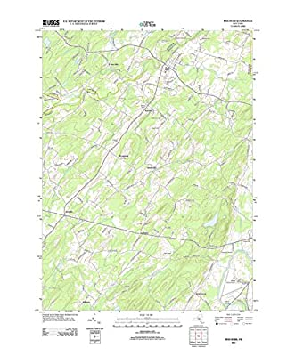 "Topographic Map Poster - PINE BUSH, NY TNM GEOPDF 7.5X7.5 GRID 24000-SCALE TM 2011 - 24""x19"""