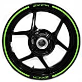 Kawasaki ZX10R v2 Thick Dual Edge Outer Rim Sticker Stripe Gloss Light Green