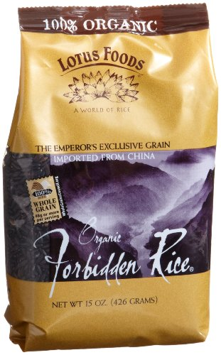 Lotus Foods Organic Forbidden Rice, 15-Ounce Bags (Pack of 12) by Lotus Foods