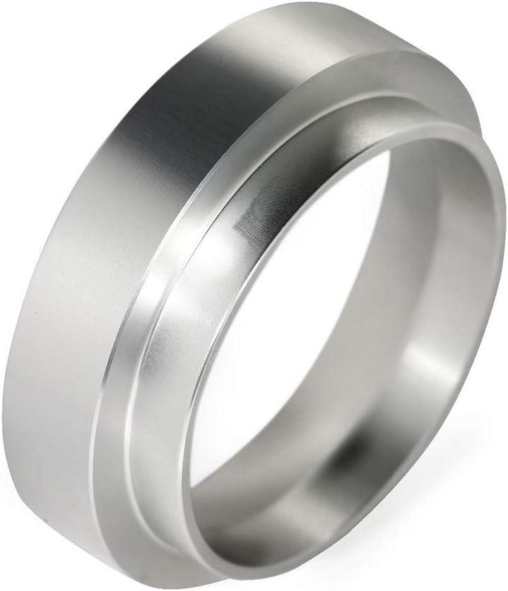 Black/_51mm LOVIVER Aluminum Coffee Dosing Ring Replacement,Espresso Dosing Funnel for Portafilter Durable Barista Tool