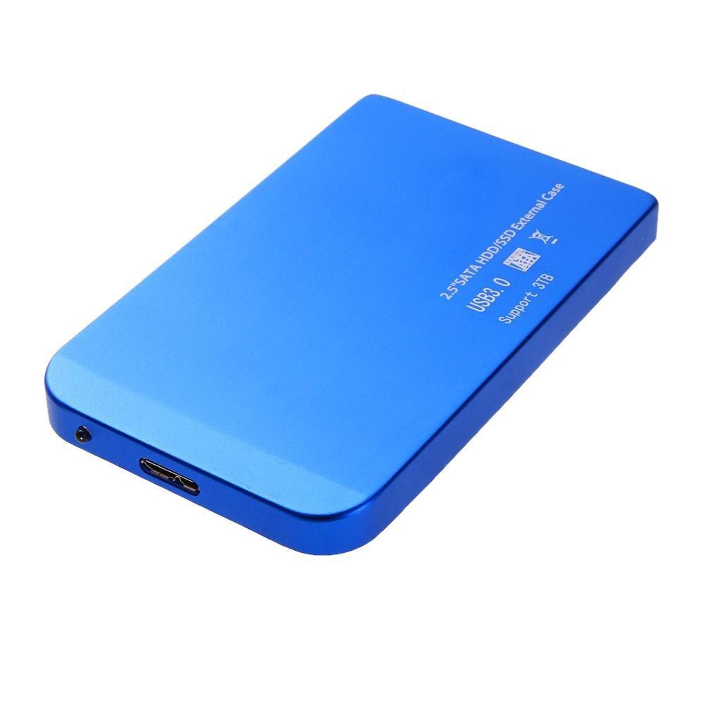 prettygood7 - Disco Duro Externo portá til para PC y Mac DE 2, 5 Pulgadas USB 3.0 Ultra Delgado SATA SSD HDD Hard Drive Dock Enclosure Case