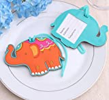 100pcs Lucky Elephant Luggage Tag Baby Shower Gifts & Wedding Favors