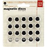 Basic Grey Magnetic Snaps , Small 3.8-Inch,  20 Count - MET359