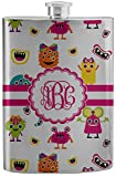 Girly Monsters Stainless Steel Flask (Personalized)