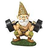 Design Toscano Garden Gnome Statue – Atlas the Athletic Weightlifting Gnome – Outdoor Garden Gnomes – Funny Lawn Gnome Statues Review