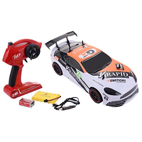 Costzon 1:10 2.4G 4CH RC Racing Car Super High-Speed Radio Remote Control Vehicle, (10 Radio Control Car)