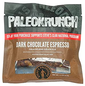 Paleokrunch Paleo Bar Grainless Granola, Dark Chocolate Espresso, 1.5 ounce (Pack of 6)