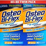 Osteo Bi-Flex Glucosamine Chondroitin MSM With Joint Shield, Twin Pack, 80 ct each