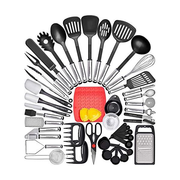 Home Hero Kitchen Utensil Set Cooking Utensils Set - Nylon Kitchen Utensils Set Kitchen Tool Set 44 Pcs. Cooking Utensil… 1