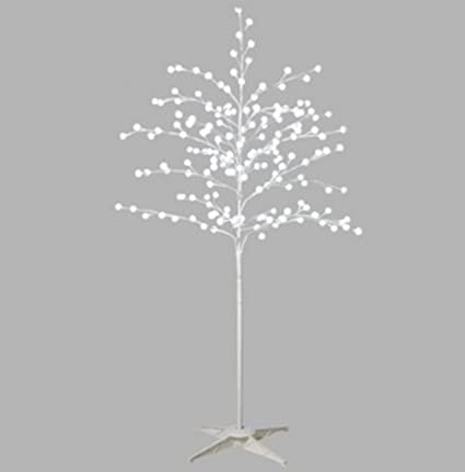 midwest gloves 64 lighted white pom pom christmas tree decoration pure white led lights - White Twig Christmas Tree