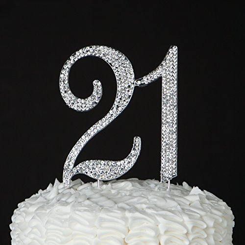 21-Cake-Topper-for-21st-Birthday-Party-Supplies-Decoration-Ideas-Silver