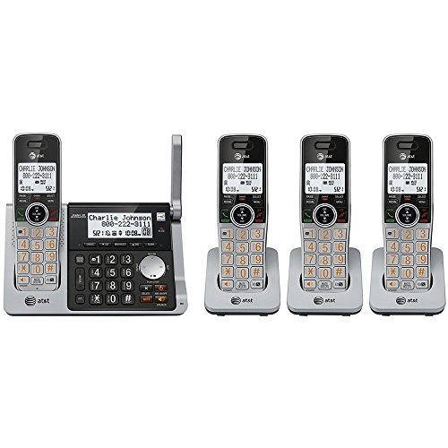 Dual Handset Phone (AT&T CL83484 DECT 6.0 4 Handset Cordless Expandable Answering Phone System With Dual Caller ID)
