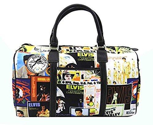 Aliz International Elvis Presley Overnight Bag Collage Style