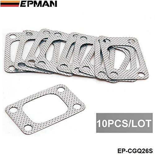 EPMAN Universal T3 Flange T34 T35 T38 GT35 GT35R Turbo Manifold Outlet Graphite Aluminum Gasket(Silver, Pack Of 10) RUIAN EP INTERNATIONAL TRADE CO. LTD