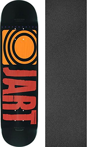 "Jart Skateboards Classic Red Skateboard Deck - 7.75"" x 31.7"" with Mob Grip Perforated Black Griptape - Bundle of 2 Items"