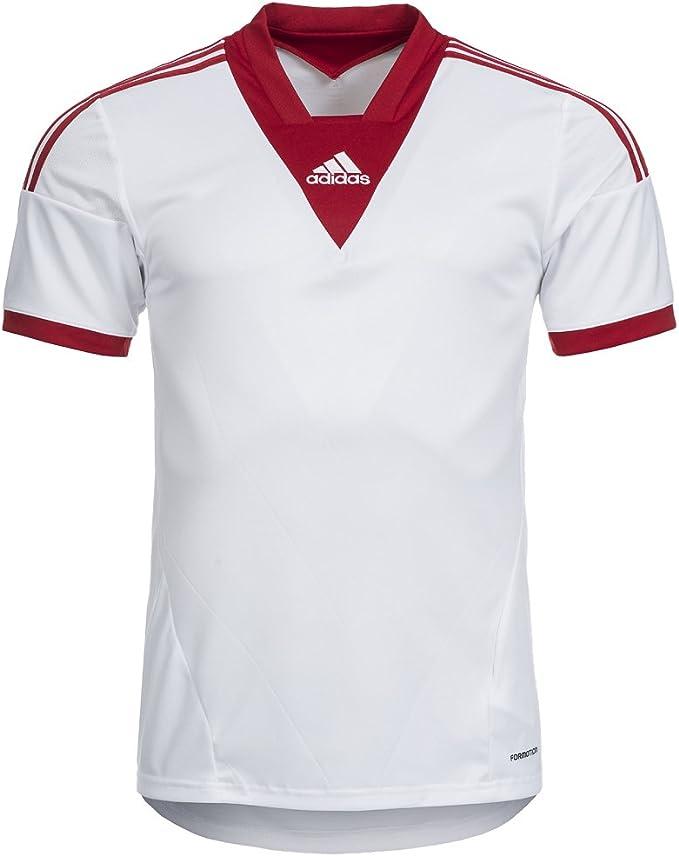 adidas Men's Camp Shirt, White: Amazon.co.uk: Clothing