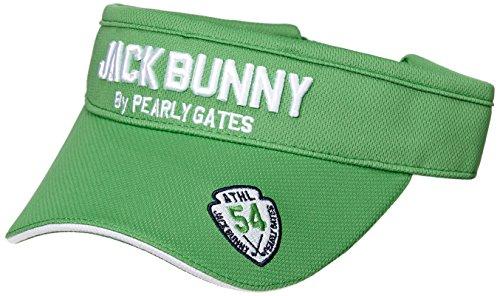 (ジャックバニー バイ パーリーゲイツ) JACK BUNNY by PEARLY GATES [ 男女兼用 ] 定番系 ロゴ マイクロ メッシュ ワッペン バイザー (サイズ調整可能 、57cm) 262-8187413