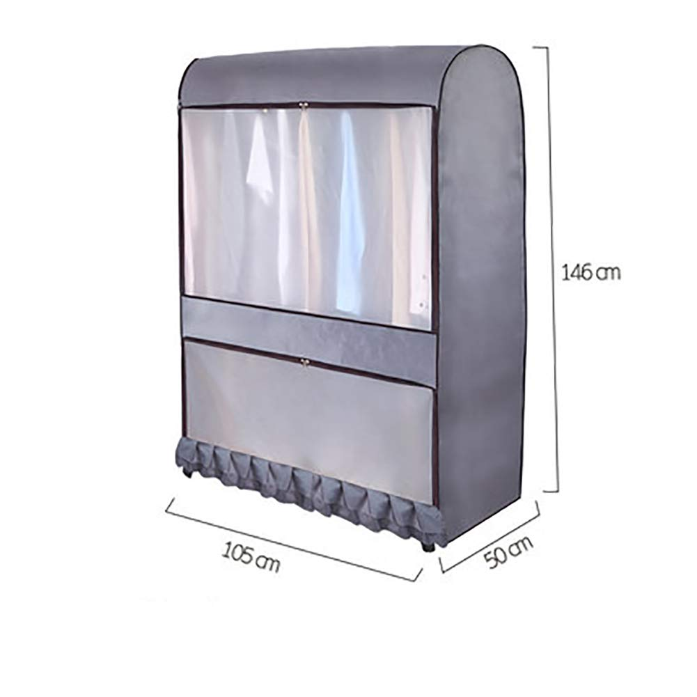 Cheng Yi Garment Rack Cover Large Capacity Dustproof Waterproof Clothes Sholder Rack Cover Reusable Clothing Rack Protector with Zipper and Pockets ...