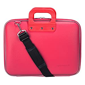 "SumacLife Cady Magenta Pink Messenger Bag Carrying Case for AOC 16"" Class USB Portable Monitor 15.6"" I1659FWUX / E1659FWU / I1601FWUX"