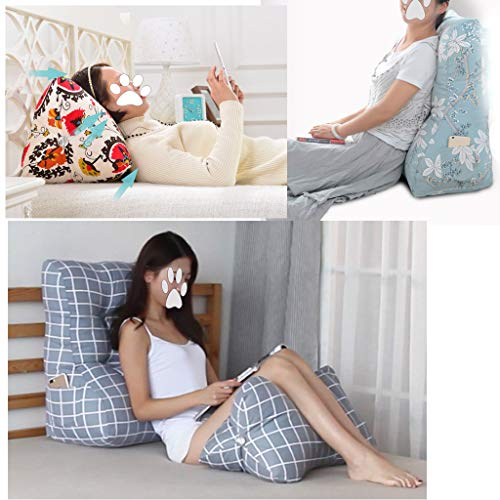 GAOYANG Triangular Wedge Cushion, Support Belt and Reading Pillow, Treatment Leg Elevation 2 Pieces are Removable and Washable, Home Office, 6 Colors (55cm) (Color : F, Size : 55CM) by GAOYANGchuangtouzhen (Image #1)