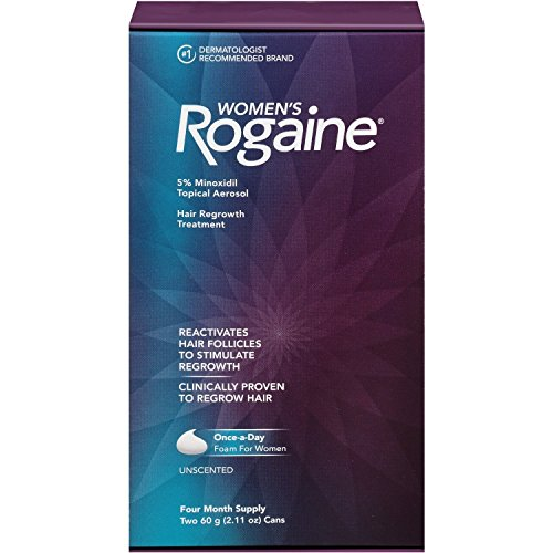 Women's Rogaine Foam Hair Regrowth Treatment, 4.22 Ounce per pack. (3 Pack) by Rogaine