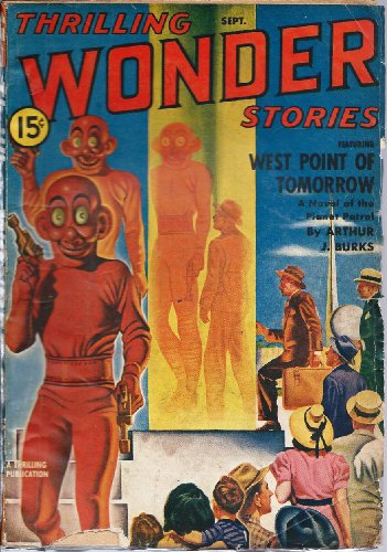 Formula Vanishing (Thrilling Wonder Stories 1940 Vol. 17 # 3 September: West Point of Tomorrow / The Tyrant of Mars / Formula for Life / The Comedy of Eras / Prospectors of Space / The Vanishing Men / The Night the World Ended / The Stolen Spectrum)