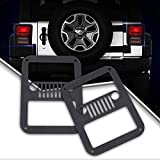 UNI FILTER Black Jeep Tail Light Cover''Jeep Face'' Rear Side Lamp Protector Guard Cover for 2007-2017 Jeep Wrangler JK Unlimited Accessories