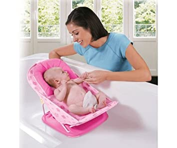 Buy Deluxe Baby Bather With Removable Head Support Cushion Infant ...