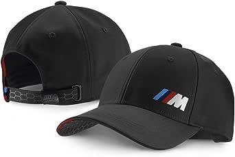 كاب رياضي بشعار BMW M، لون اسود فاتح