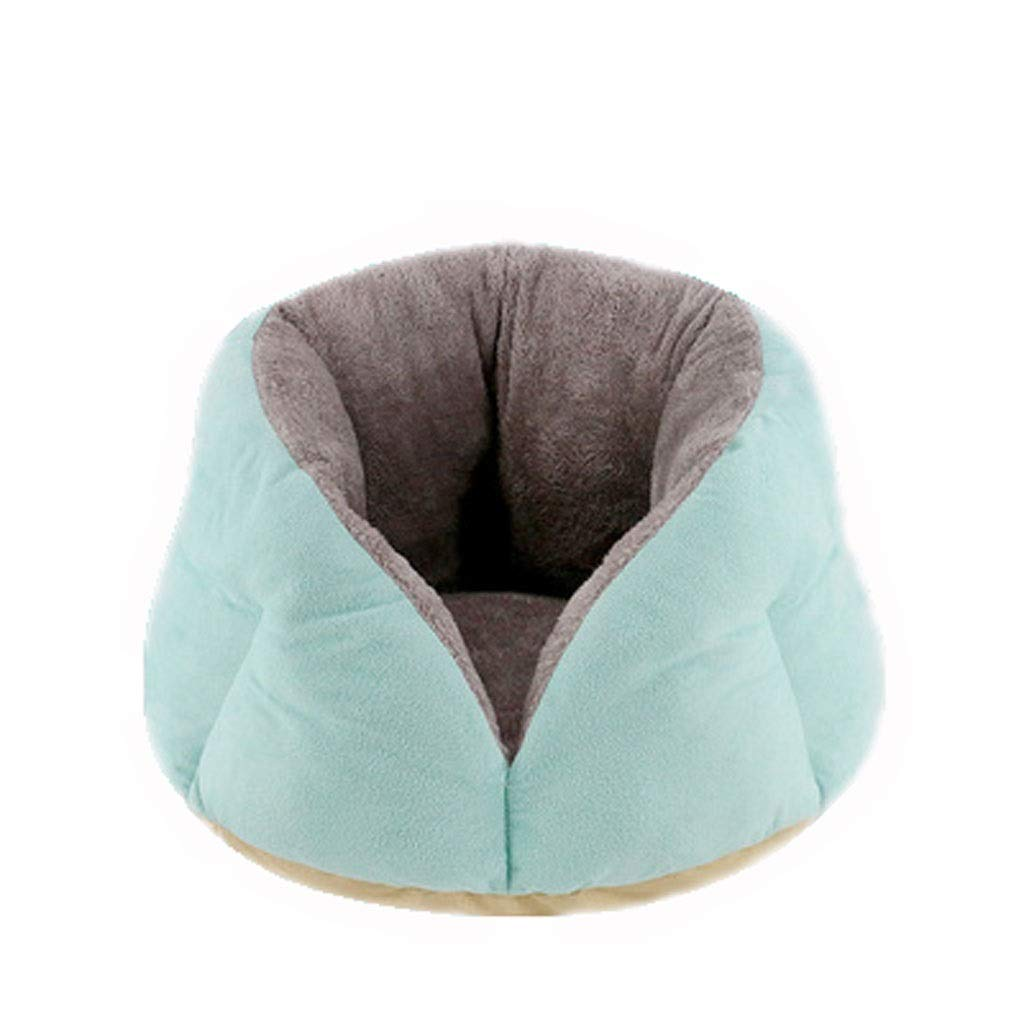 bluee S bluee S MSNDD Winter Warm Dog Bed bluee Pet Fleece Bed Warm Mat for Dogs Cat Bed Pet Nest (color   bluee, Size   S)