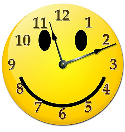 SMILEY FACE CLOCK Extra Large 15.5