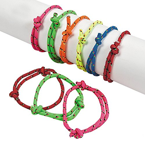 Rope Friendship Bracelets - Pack Of 12 – Fits Most Wrists - Assorted Colors Nylon Friendship Bracelets - For Kids and Adults Beauty, Fashion, Great Party Favors, Gift, Prize – By Kidsco (Nylon Friendship Rope Bracelets)