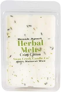 product image for Crisp Cotton 4.75oz Swan Creek Candle Drizzle Melts