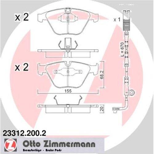 Zimmermann 23312.200.2 bremsbelagsatz,-scheibenbremse