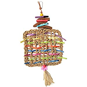 "Super Bird Creations Woven Whimsy Bird Toy 16"" x 8.5"" 67"