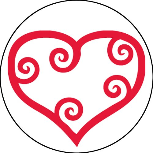 Roll Scroll (Adhesive Label 15289C Teacher Scroll Heart School Stickers, 2-1/2-Inch, Red/White, Roll of 100)