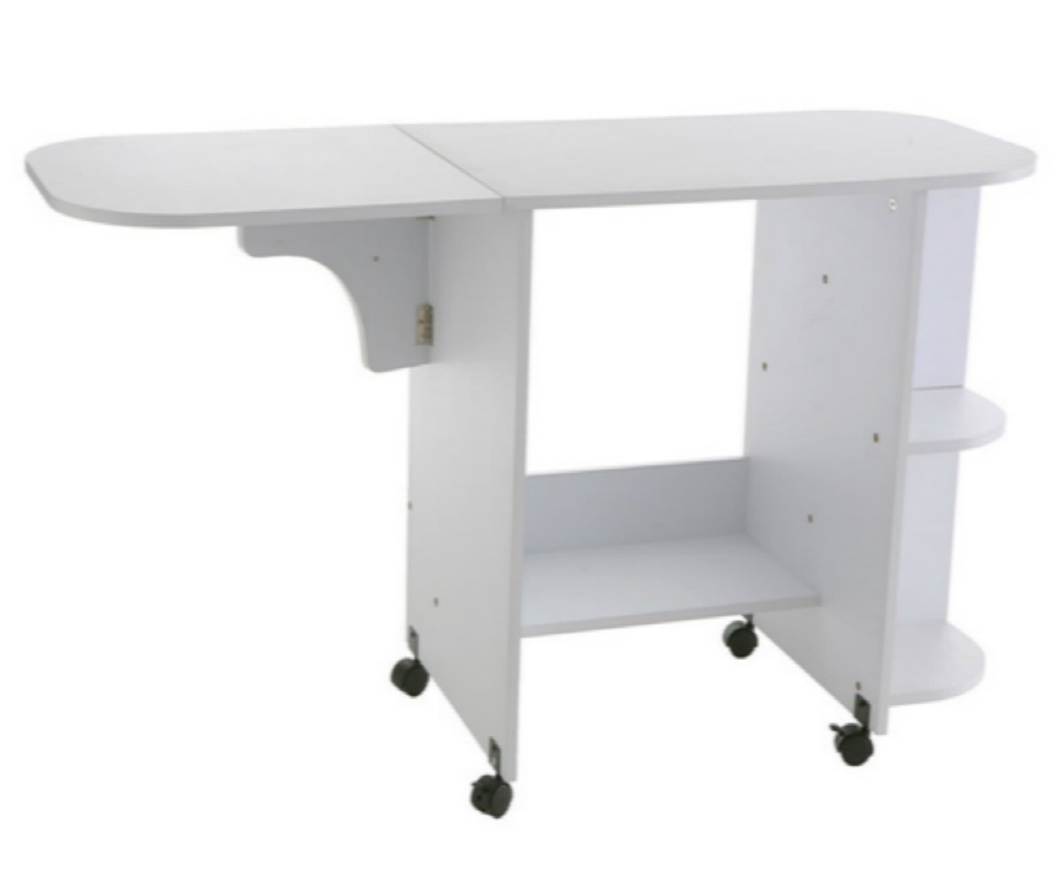 Sewing Table On Wheels.Amazon Com Rolling Sewing Machine Craft Table Drop Leaf
