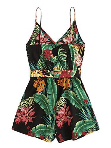 Boho Floral Print V Neck Jumpsuit