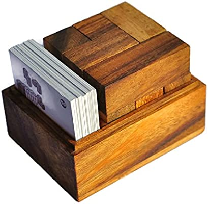 Cube Game Wooden Game Cube And Card Wooden Puzzle Box