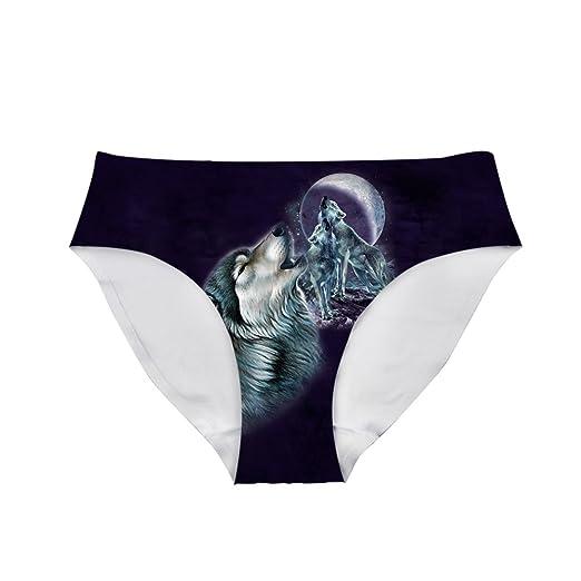 Amazon.com: dellukee divertido ropa interior para mujer ...