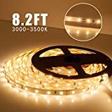 Moonlife99 DIY Flexible LED Strip Lights PIR Motion Sensor Activated Under Cabinet Lighting Full Kit Bed lights for Kitchen Home Decorative