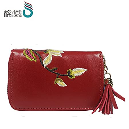 KEROUSIDEN Zipper Card Package Womens Card Package Multi-Card Leather Soft Short Paragraph Small Coin Purse 13.59Cm