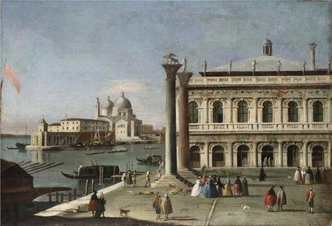 Oil Painting 'Francesco Battaglioli,The Piazzetta,about 1750', 24 x 35 inch / 61 x 90 cm , on High Definition HD canvas prints is for Gifts And Basement, Garage And Kids Room Decoration