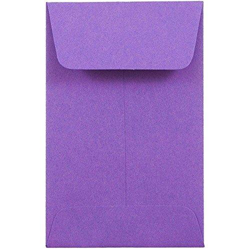 "JAM Paper #1 Coin Envelopes - 2 1/4"" x 3 1/2"" - Gravity Grape Purple - 25/pack"