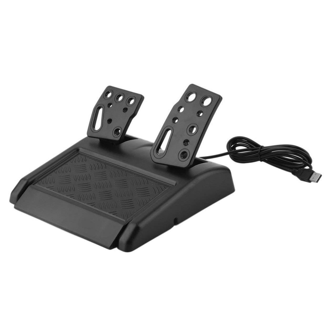Dailyinshop 180 Grados de rotaci/ón del Volante ABS Gaming vibraci/ón Que compite con los Pedales