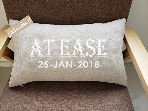 RUDRANSHA Pillowcase At Ease Pillow,Phrase Pillow,Soldier gift,Military Retirement, Military Gift,Marine Gift,Air Force Gift,Coast Guard Gift,Military Gift,Military - Pillow Phrase Gift
