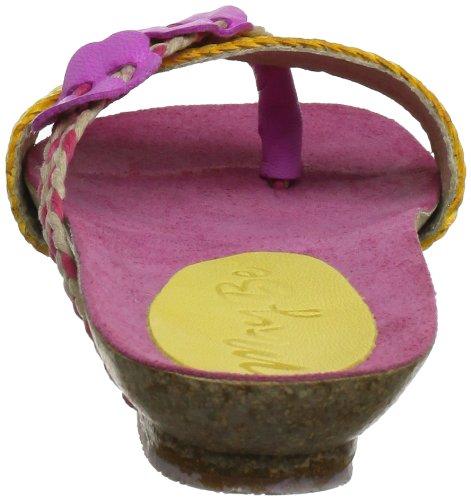 Maybe mb41801 41801 - Zuecos de lona para mujer Rosa (Pink (amarillo-fuxia))