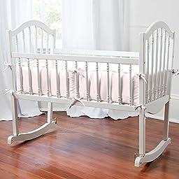 Carousel Designs Solid Pink Cradle Bumper